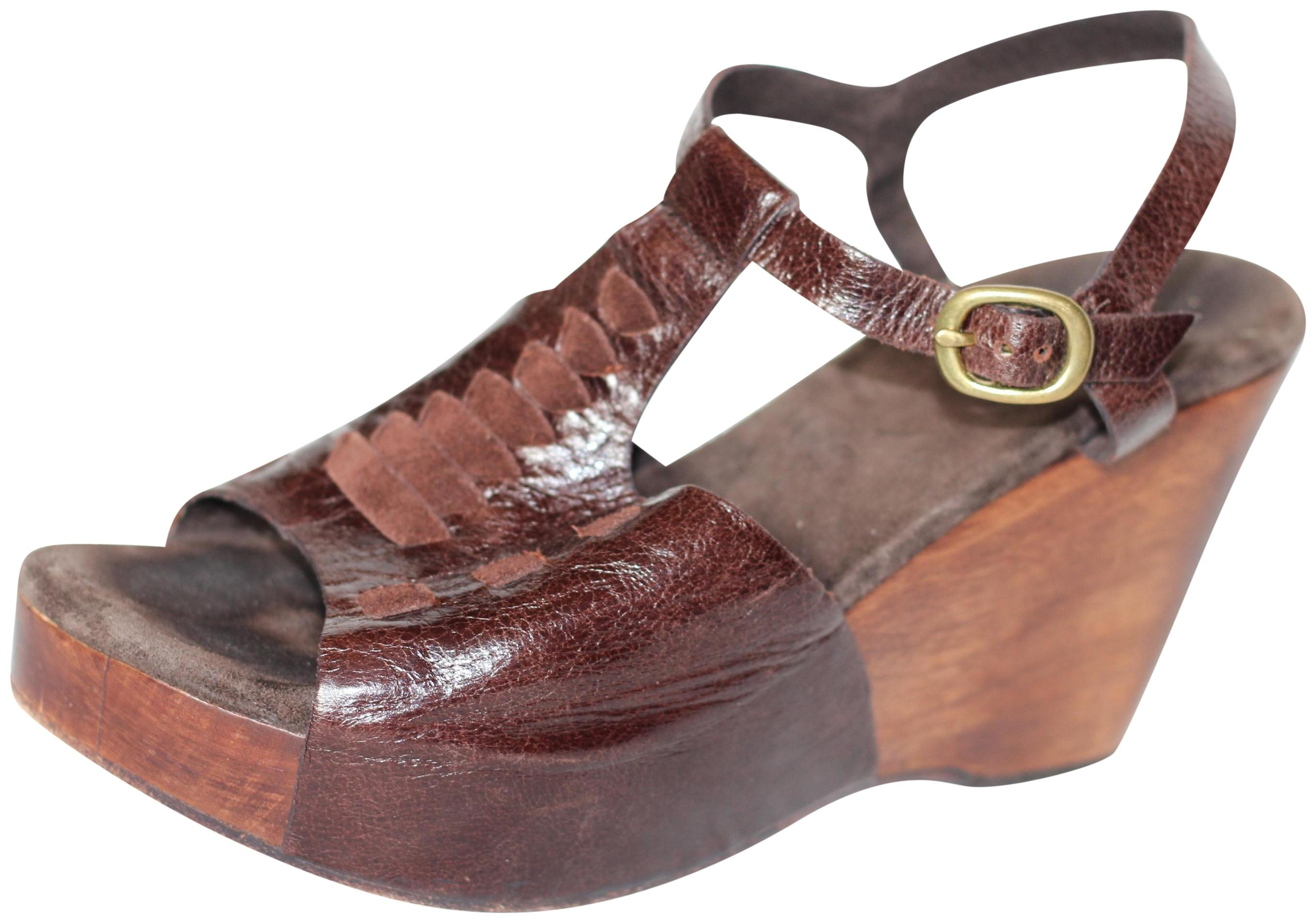 cheap pay with visa cheap sale low price Calleen Cordero Leather Wedge Sandals best store to get online hot sale cheap price best wholesale cheap online IrhAUyT9