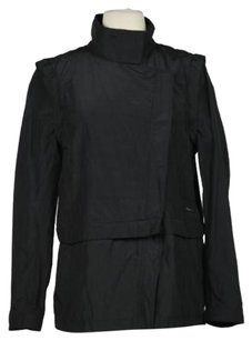 Calvin Klein Jeans Womens Metallic Basic Casual Coat Black Jacket