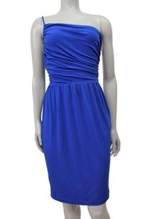 Calvin Klein Royal Ruched Sides Top One Strap Dress