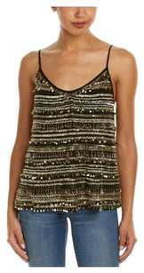 Calypso St. Barth Lovette Sequin Gold Top Black