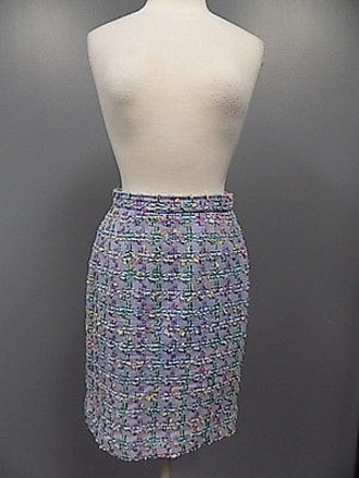 Carlisle Purple Blue Yellow Back Vent Lined Woven Skirt 521a 30%OFF