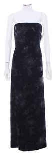 Carmen Marc Valvo Evening Strapless Velvet Dress