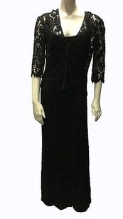 Carmen Marc Valvo Floral Lace Beaded Evening Gown W Shall Hs2471 Dress