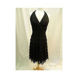 Carmen Marc Valvo short dress Blacks Black Lace on Tradesy