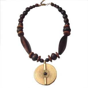 Carole Little Gorgeous Wooden Beaded Necklace