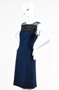 Carolina Herrera Navy Dress