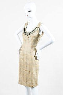 Carolina Herrera Tan Yellow Dress