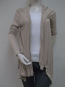 Carolyn Taylor Ceramic Flyaway Hang Open Asymmetrical Cardigan Sweater