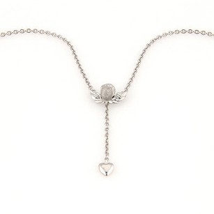 Carrera y Carrera Carrera Y Carrera 18k White Gold Angel With Heart Pendant Necklace