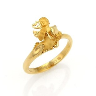 Carrera y Carrera Carrera Y Carrera 3d Cherub 18k Yellow Gold Ring - 5.75