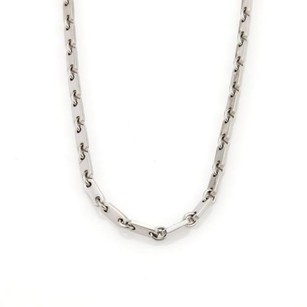Cartier 40972 Cartier Fidelity 18k White Gold Flat Bar Link Chain Necklace Wcertificate