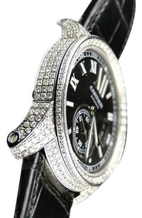 Cartier 9.20ct Total Pave Set Diamond Calibre De Cartier Automatic Stainless Steel Watch