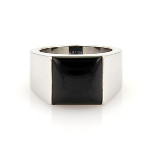 Cartier Cartier 18k White Gold Black Onyx Square Top Tank Ring