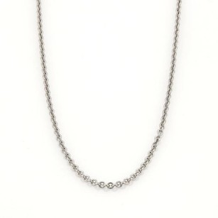 Cartier Cartier 18k White Gold Rolo Link Chain Wcertificate