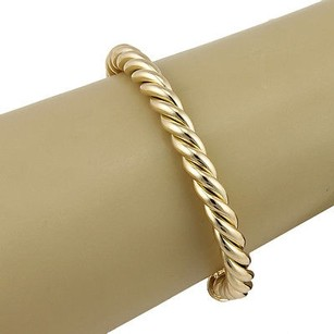 Cartier Cartier 18k Yellow Gold 6mm Designer Cable Bangle Bracelet