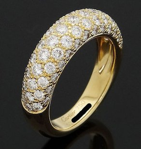 Cartier Cartier 18k Yellow Gold Diamond Wedding Band Ring With Cartier Certificate R506