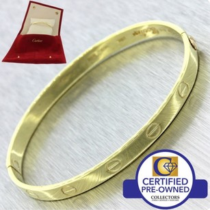 Cartier Cartier Aldo Cipullo 18K Gold Love Screw Bangle Bracelet 17