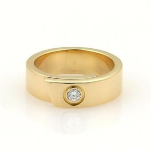 Cartier Cartier Anniversary Diamond 18k Yellow Gold 6mm Band Ring Eu 50-us