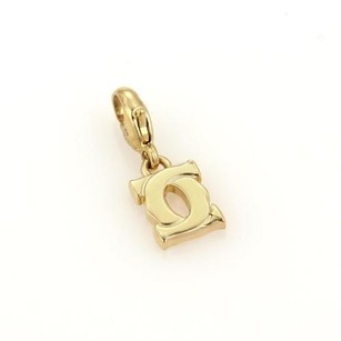 Cartier Cartier Double C 18k Yellow Gold Logo Charm Pendant
