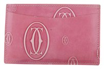 Cartier CARTIER Happy Birthday Card Case Wallet Patent Leather