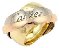 Cartier Cartier 18k Tri-color Gold Trinity Graduated Bands Ring Eu 49-us