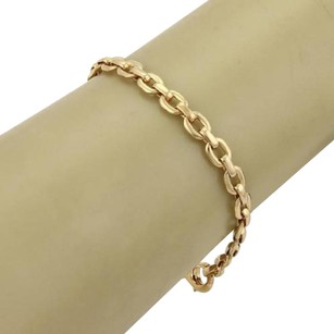 Cartier Cartier 18k Yellow Gold Oval Link Chain Link Bracelet - 7