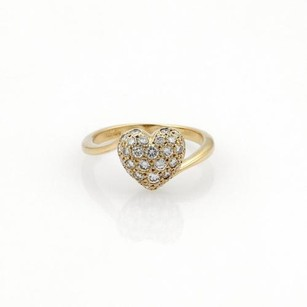 Cartier Cartier Diamonds 18k Yellow Gold Heart Ring Eu 52-us