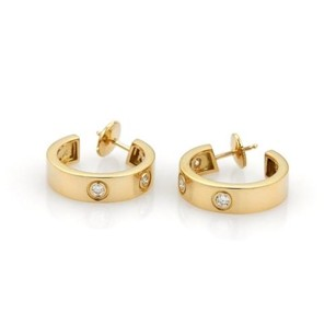 Cartier Cartier Love Diamonds 18k Yellow Gold Hoop Earrings