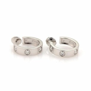Cartier Cartier Love Diamonds 18k White Gold Hoop Earrings