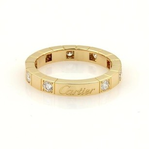 Cartier Cartier Lanieres Diamonds18k Yellow Gold 3mm Band Ring Eu 51-us