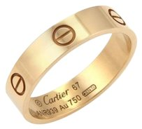 Cartier Cartier Love 18k Rose Gold 5.5mm Band Ring -size Eu 67-us
