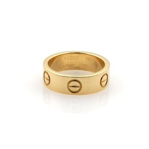 Cartier Cartier Love 18k Yellow Gold 5.5mm Wide Band Ring Eu 48-us Wcert