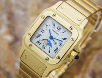 Cartier Cartier Luxurious Santos Date And Moonphase 18k Solid Gold Ladies Watch 2000 C20