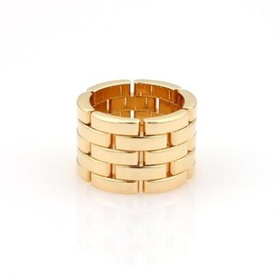 Cartier Cartier Maillon Panthere 18k Yellow Gold Rows 13mm Wide Band Ring