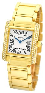 Cartier CARTIER Medium Size 18K Yellow Gold Tank Francaise Custom Diamonds