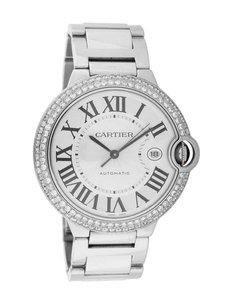 Cartier Cartier Men's Ballon Bleu Stainless Steel Diamond Watch W69012Z4