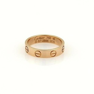 Cartier Cartier Mini Love 18k Rose Gold 3.5mm Ring Band Eu 46-us