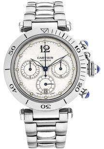 Cartier Cartier Pasha 38mm Chronograph Stainless Steel Men's Watch