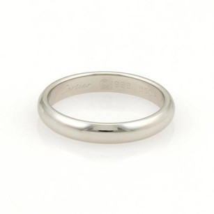Cartier Cartier Platinum 3.5mm Wide Plain Dome Wedding Band Ring 58-us 8.25