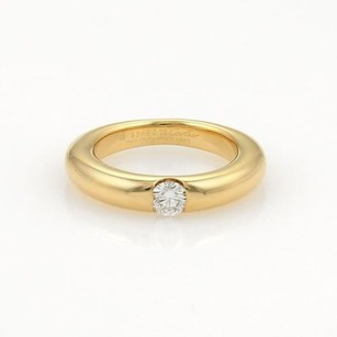 Cartier Cartier Solitaire Diamond 18k Yellow Gold Band Ring 48-us Wcert.