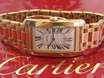 Cartier Cartier Tank Americaine 18k Yellow Gold Automatic Mens Bracelet Watch 1740