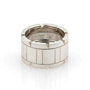Cartier Cartier Tank Francaise 18k White Gold 11mm Band Ring Eu 49-