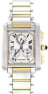 Cartier Cartier Tank Francaise Chronoflex Stainless Steel 18k Yellow Gold 2303