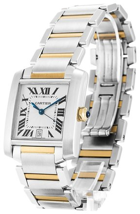 Cartier CARTIER TANK FRANCAISE W51005Q4 STEEL AND GOLD MEN'S WATCH