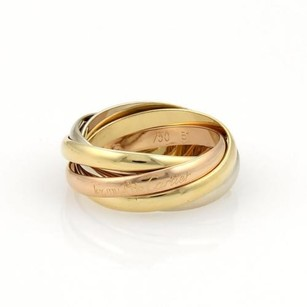 Cartier Cartier Trinity 18k Tri-color Gold Rolling Band Ring Eu 51-us 5.75