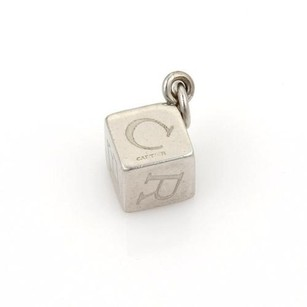 Cartier Cartier Vintage Stainless Steel Letter Engraved Box Charm