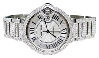 Cartier Full Diamond Mens Mm Cartier Ballon Bleu Watch With 18.5 Ct Roman