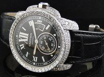 Cartier Fully Iced Out Mens Mm Cartier Calibre Watch With Ct Diamond