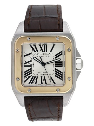 Cartier CARTIER SANTOS 100 18K YELLOW GOLD AND STEEL AUTOMATIC MEN'S WATCH