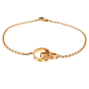 Cartier love collection gold ring link bracelet